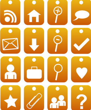 2d orange web 2.0 icons - Kostenloses vector #339571