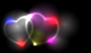 Two smoky vector hearts - vector gratuit #339611