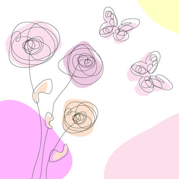 Spring scribble free vector - Free vector #339721