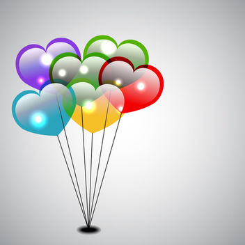 Heart Shaped Balloons - vector gratuit #339861