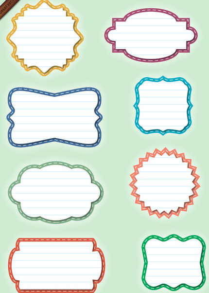 Set of Paper Labels - Shapes - vector gratuit #339921