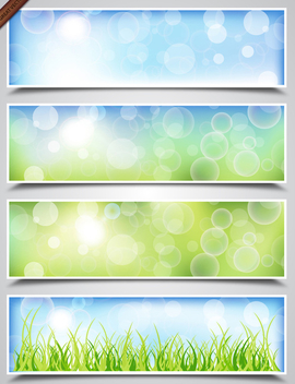 Spring Bokeh Banners - Free vector #339971