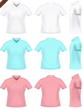 Vector Mens Polo T-shirts - Free vector #340031
