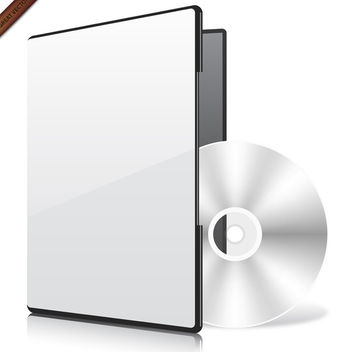 Compact Disk with Blank Case - vector gratuit #340051