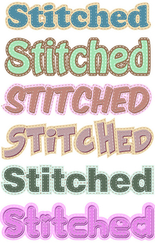 Stitched Graphic Styles - бесплатный vector #340121