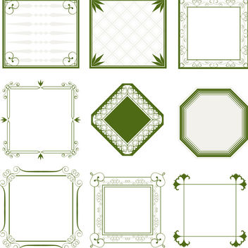 Ornate Vector Frames - Free vector #340181