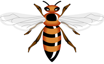 Vector Honey Bee - Free vector #340231
