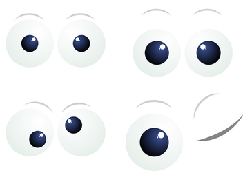 Cartoon Eyes - vector gratuit #340241