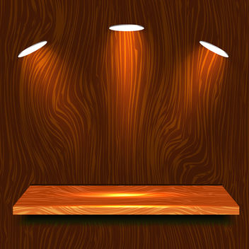 Wooden Shelf - vector gratuit #340361