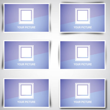 Boxes with Shadows - vector gratuit #340391