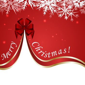 Merry Christmas Background - Free vector #340431