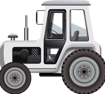 White Tractor - Free vector #340461