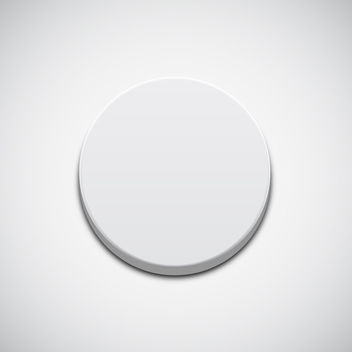 White Button - vector gratuit #340661