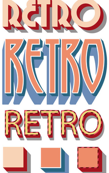 Retro Graphic Styles - vector gratuit #340911