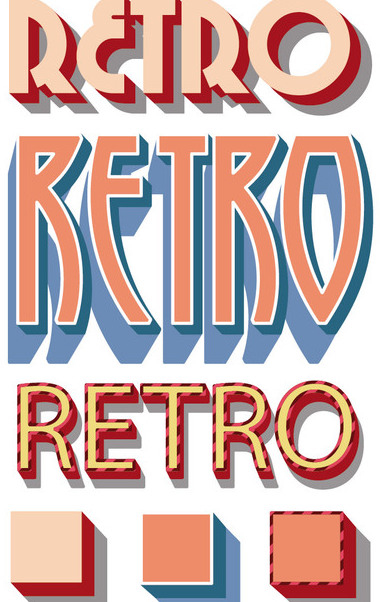 Retro Graphic Styles - Free vector #340911