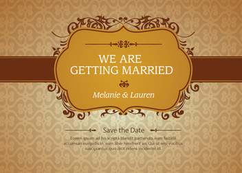 Floral Marriage Invitation - vector #341021 gratis