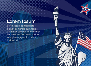 Statue Liberty USA - vector #341061 gratis