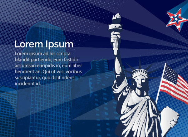 Statue Liberty Usa - Free vector #341061