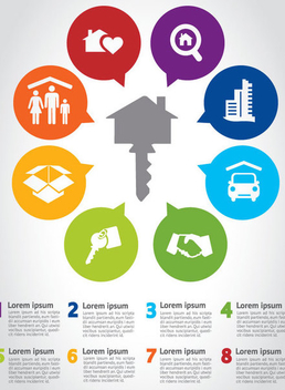 Real Estate Infographic - Kostenloses vector #341081