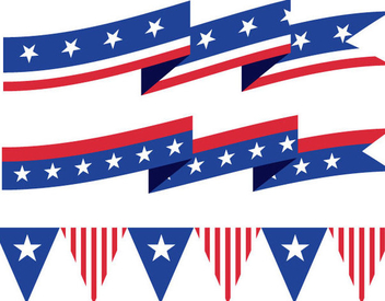 USA Ribbons Buntings - бесплатный vector #341091