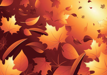 Autumn Leaves Background - vector gratuit #341151