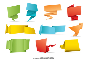 10 origami banners - Free vector #341191