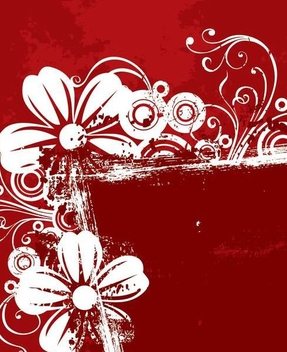 Abstract Grungy Floral Background - vector gratuit #341241