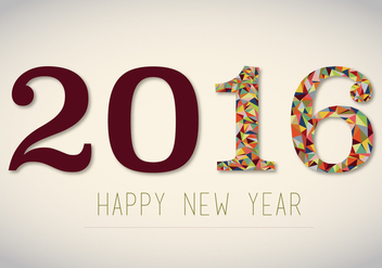 Free 2016 New Years Vector - Kostenloses vector #341351