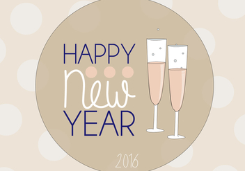 Free Happy New Year Vector - Kostenloses vector #341361