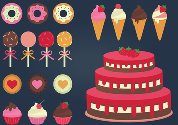 Vector Sweets Collection - vector #341551 gratis
