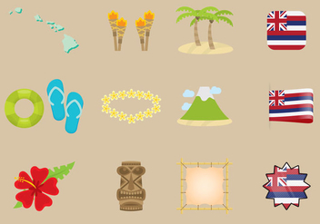 Hawaiian Icons - vector gratuit #341611