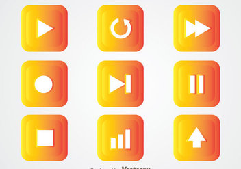 Media Player Button - vector gratuit #341681