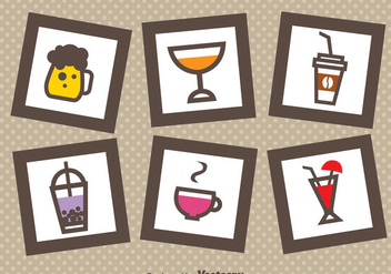 Drink In Frames Icons - Kostenloses vector #341701