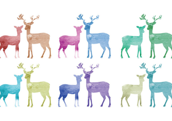 Vector Watercolor Deer - бесплатный vector #341761
