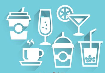 Drinks White Icons - vector gratuit #341771