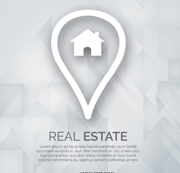 Real estate marker logo - Free vector #341821