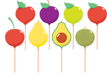 Fruit Cake Pops - vector gratuit #341881