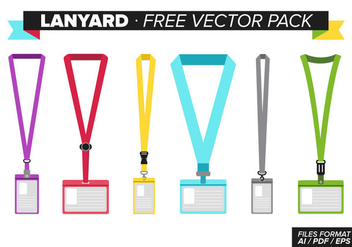 Lanyard Free Vector Pack - Free vector #341961