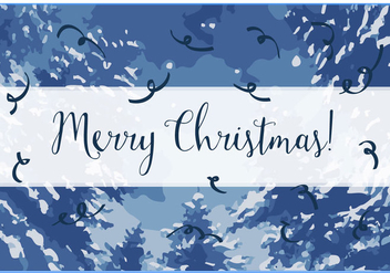 Free Merry Christmas Vector Background - бесплатный vector #342201