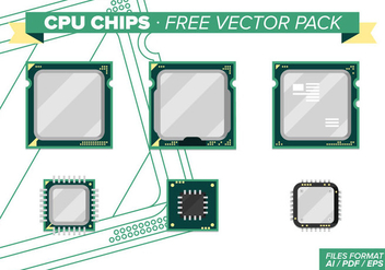 Cpu Chips Free Vector Pack - Kostenloses vector #342211
