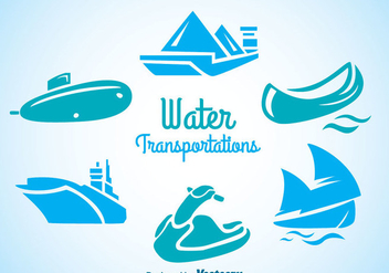 Water Transportation Icons - vector #342311 gratis