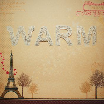 Word warm made of lace letters on french background - бесплатный image #342541