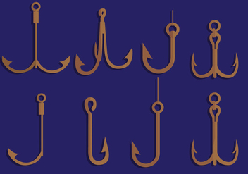 Fish Hook Vectors - vector gratuit #342651