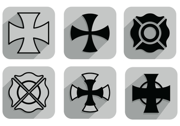 Maltese Cross Vectors - Free vector #342661