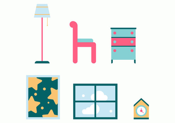 Free Kids Room Vector Icons #11 - Free vector #342771