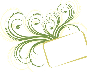 Green Swirling Frame Rectangle Banner - vector gratuit #342841