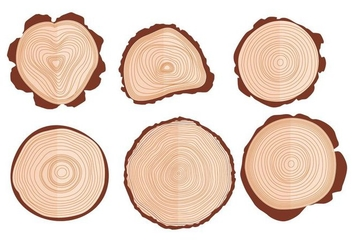 Tree Ring Vectors - vector gratuit #342941
