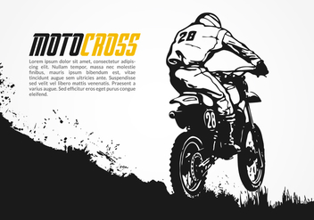 Free Motocross Vector Illustration - vector gratuit #342961
