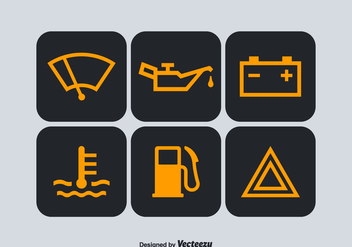 Free Car Dashboard Vector Symbols - бесплатный vector #342971
