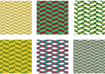 Herringbone Pattern Green Vector - Free vector #343051
